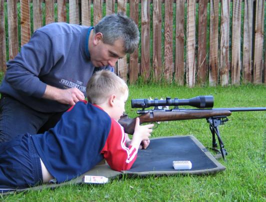 Callum Ferguson with his son Craig
